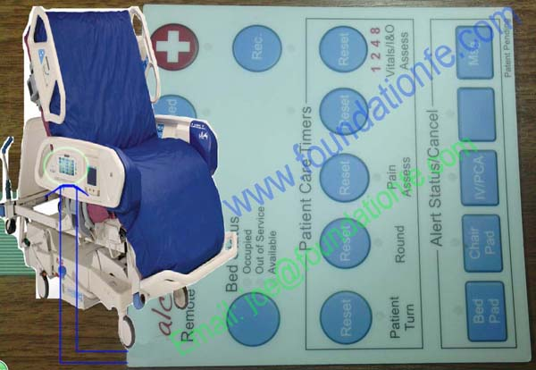 Medical equipment membrane switch
